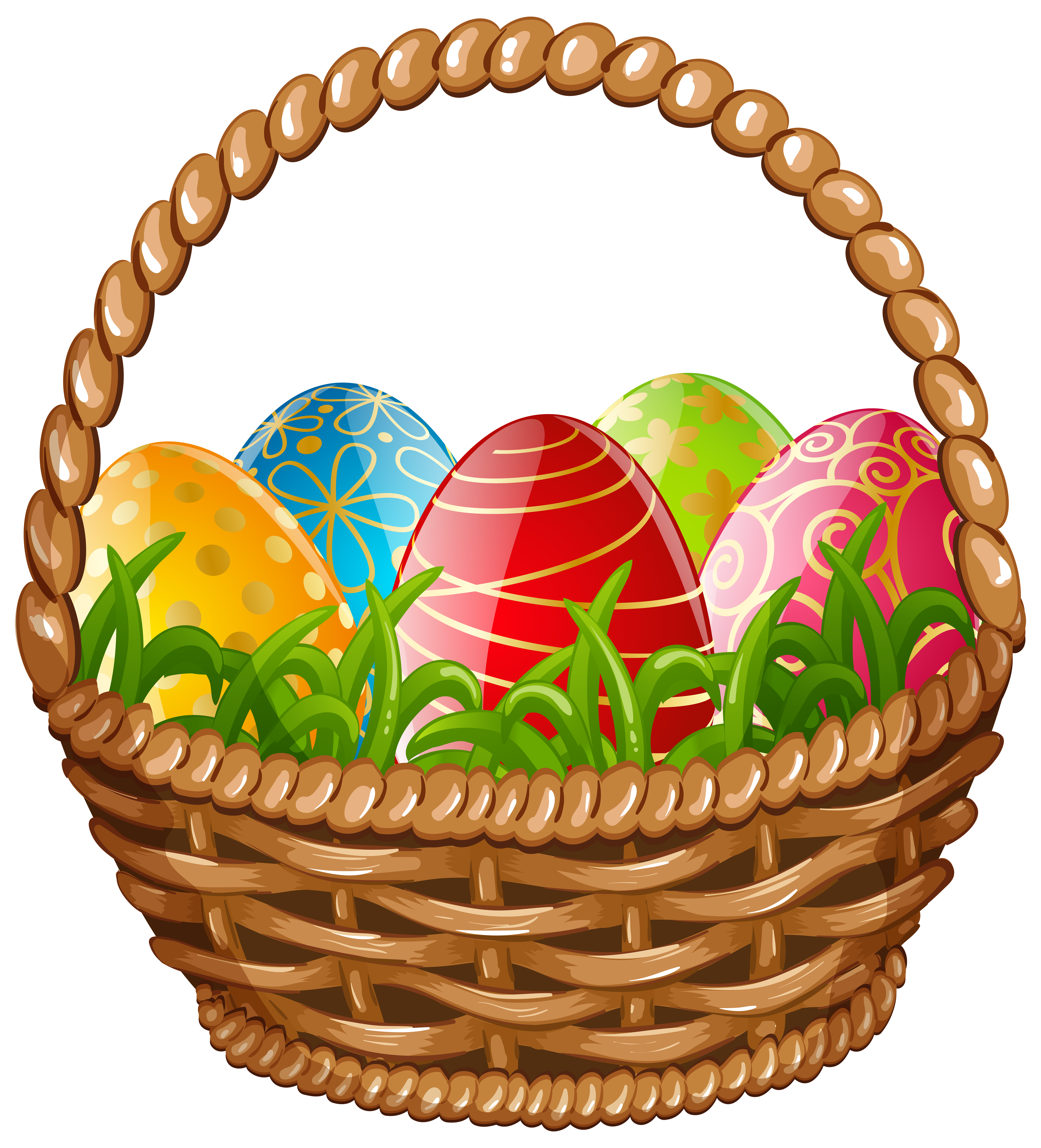 Easter bunny basket png. Egg clipart at getdrawings