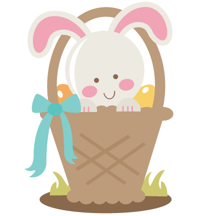 Easter bunny basket png. In svg cutting file