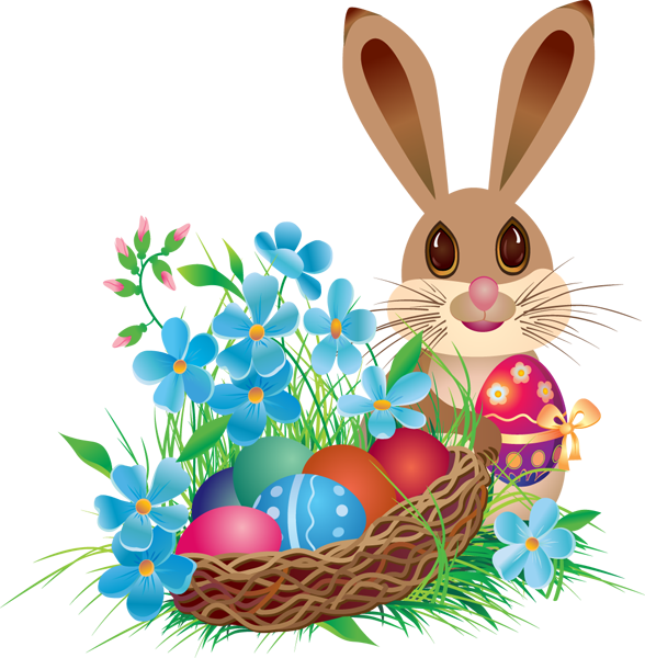 Easter png. Bunny with basket easterbunnywithbasketpngeaster