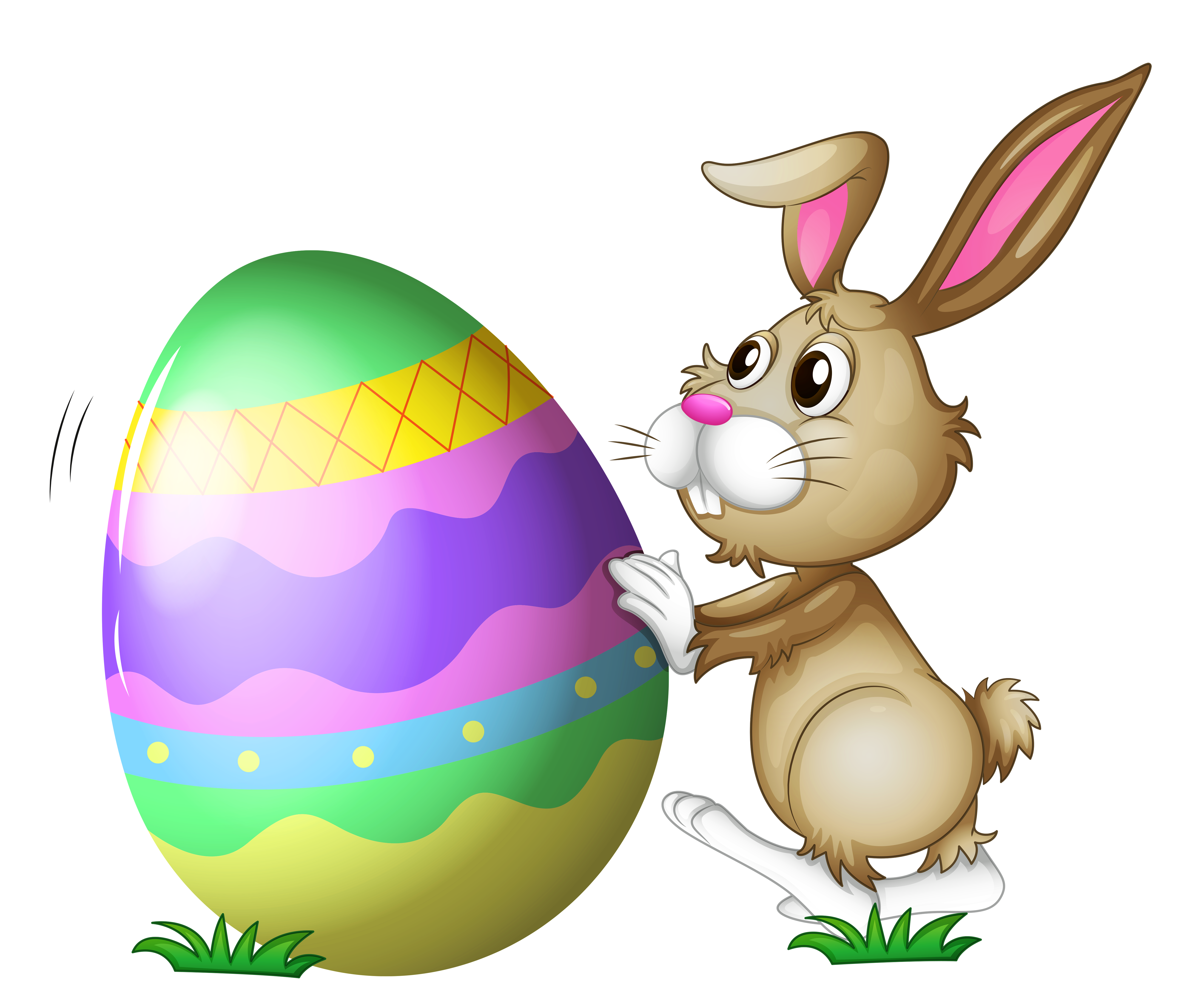 Easter bunny clip art png. With egg transparent clipart