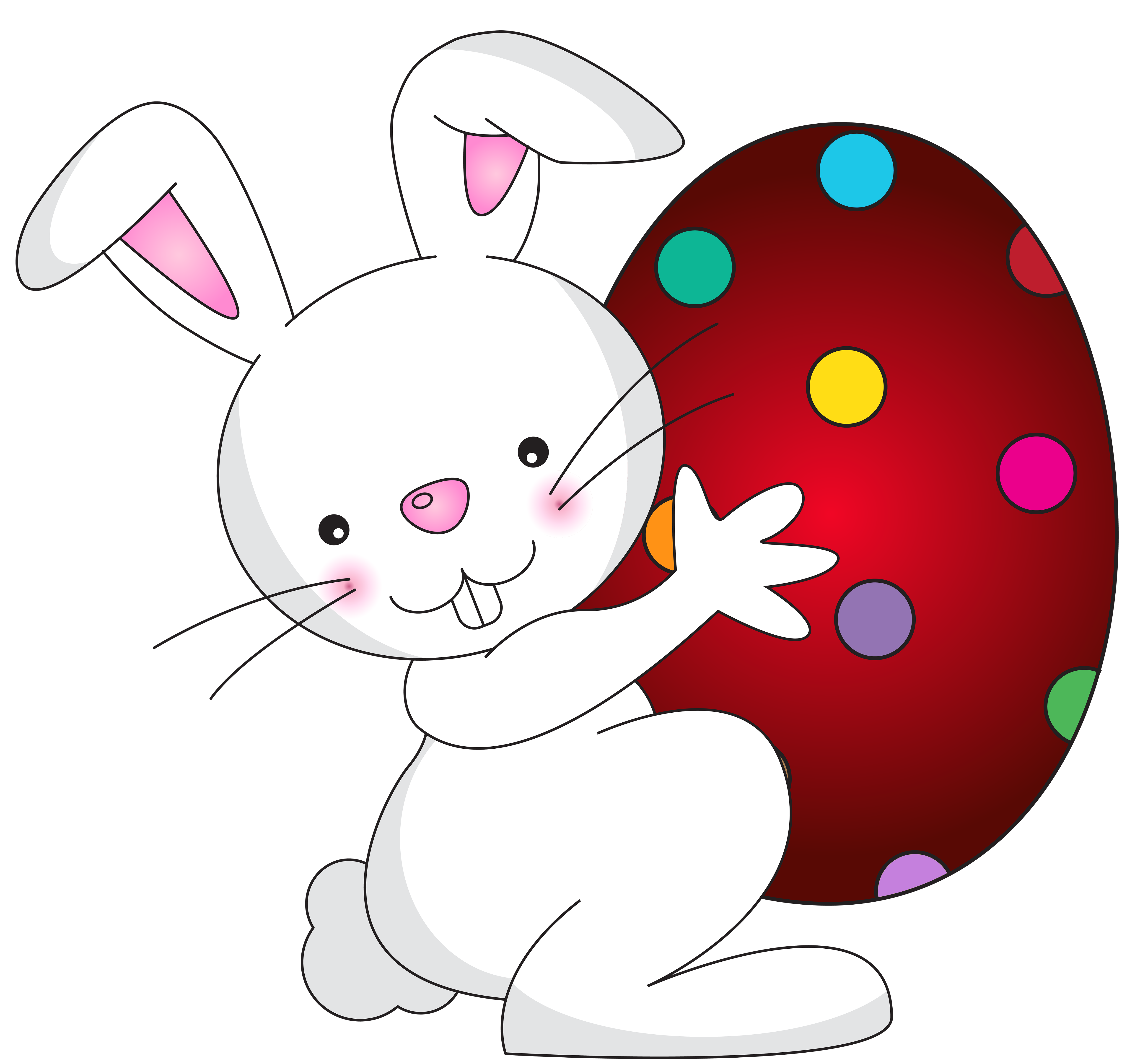 Easter bunny clip art png. White transparent image gallery