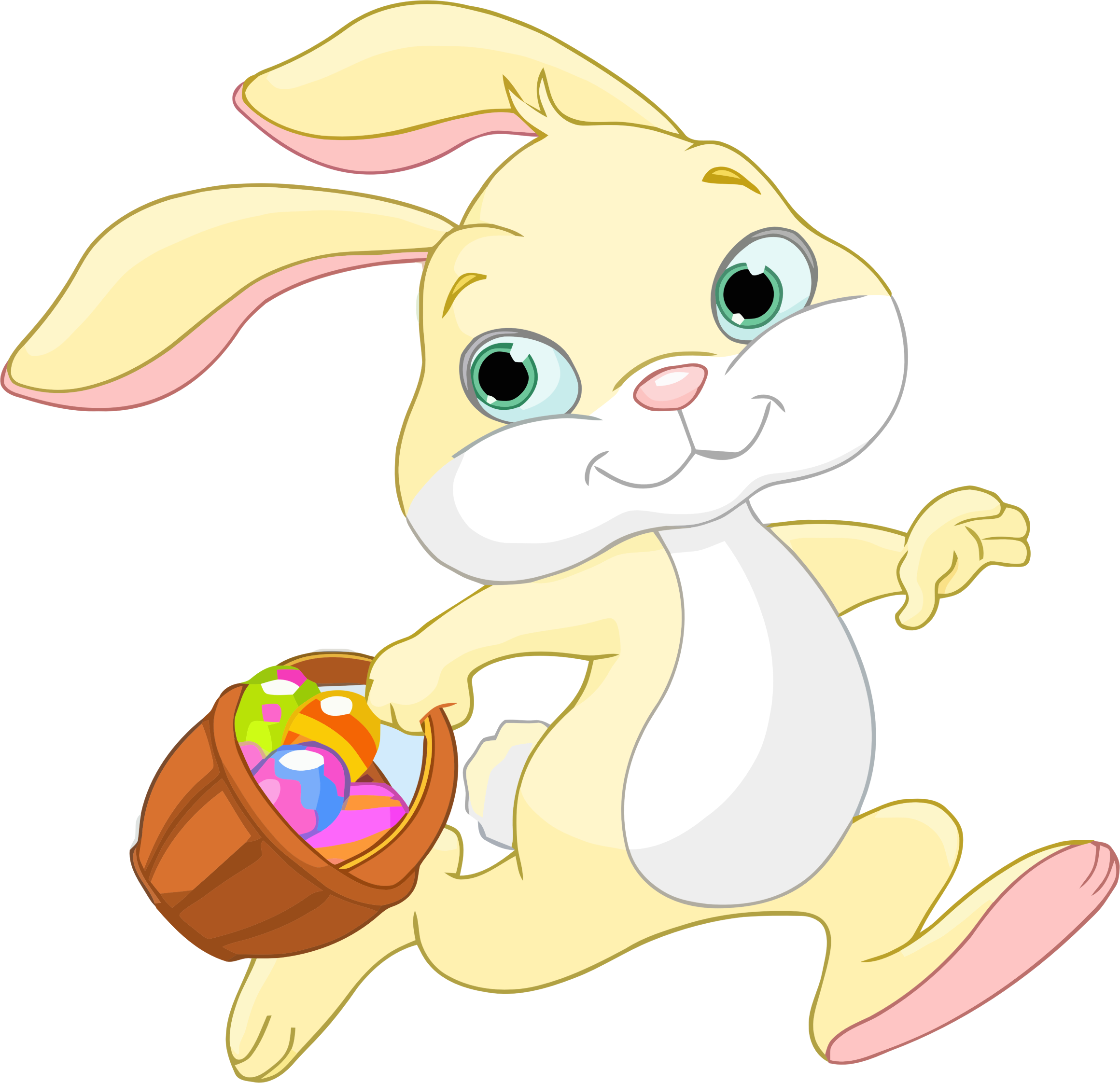 Easter bunny basket png. With icons free and