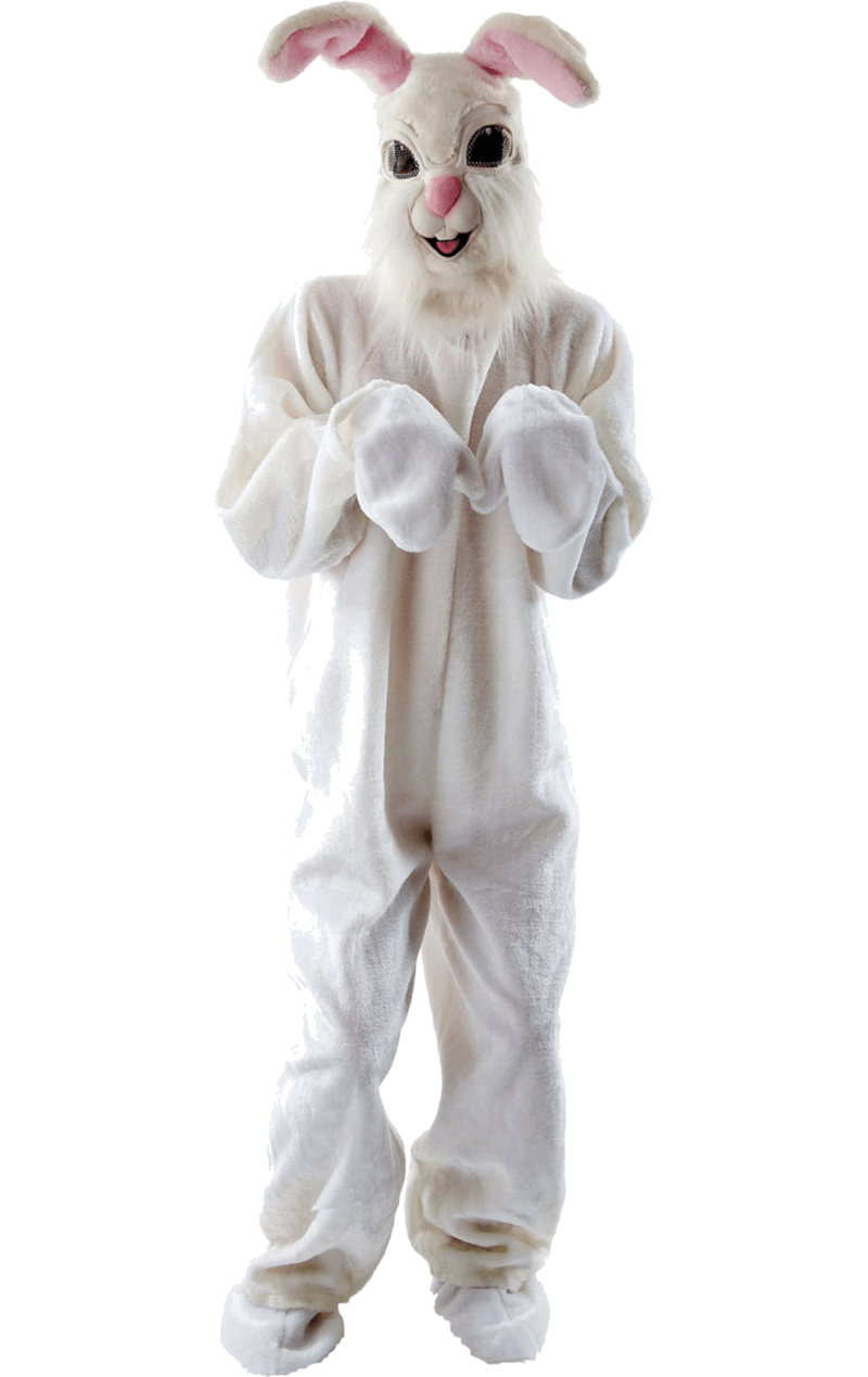 Easter bunny costume png. Adult fluffy animal jokers