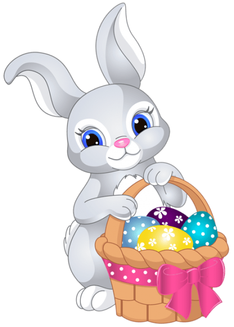 Easter bunny png free. With egg basket images