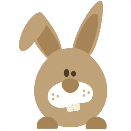 And svg bunny. Easter file for scrapbooking