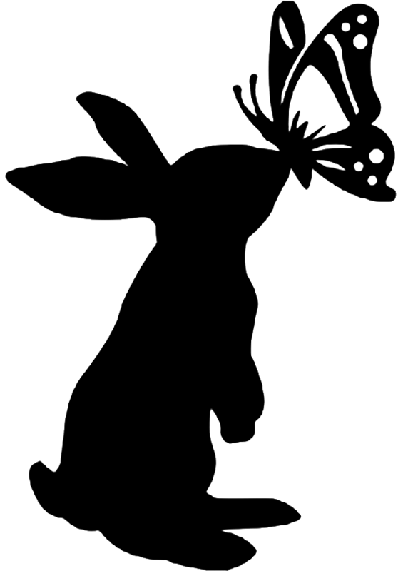 Easter bunny silhouette png. Pinterest cricut and