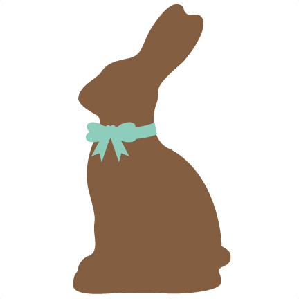 Chocolate bunny cutting file. Svg silhouette easter banner library