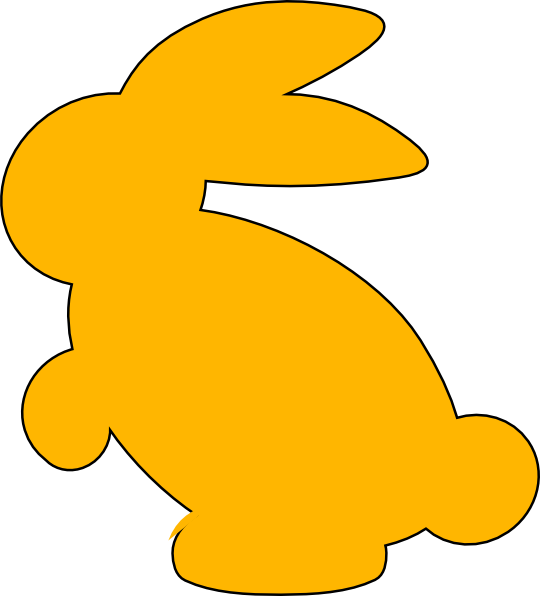 Easter bunny silhouette png. Yellow clip art at