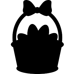 Easter bunny silhouette png. Silhouettes basket