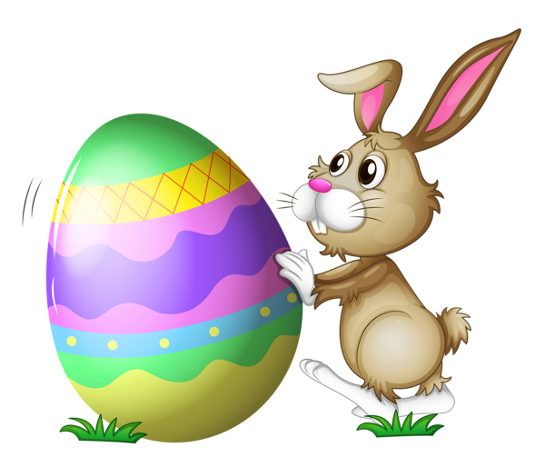 Easter bunny transparent png. With egg clipart