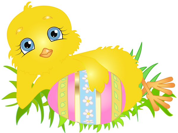 Easter chick png. With egg clip art