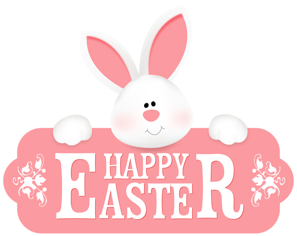 Easter clip art png. Happy with bunny clipart