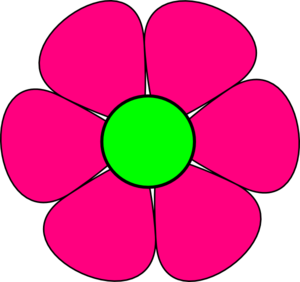 Easter clip flower. Collection of free folwe