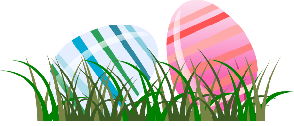 Eggs vector grass. Easter in clipart