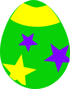 Easter clip green. Egg art at clker