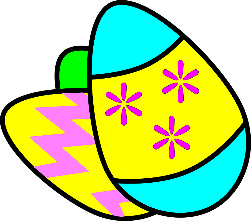 Easter clip row. Of eggs art th