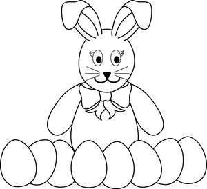 Easter clipart colour. Free coloring page image