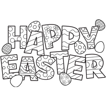 Easter clipart colour. Happy eggs free n