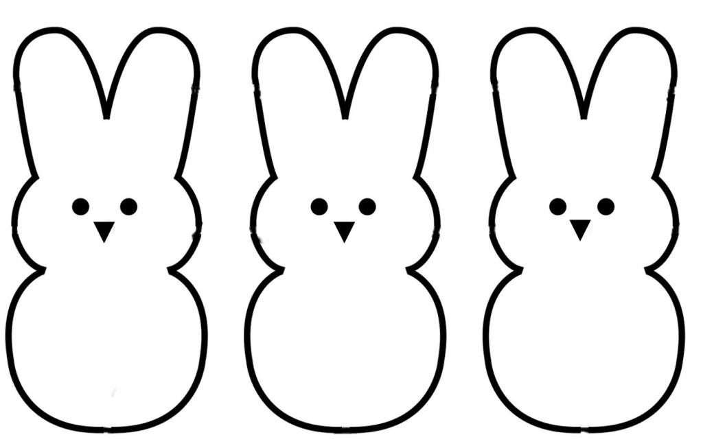 Bunny clipart black and white. Easter iosmusic org outline