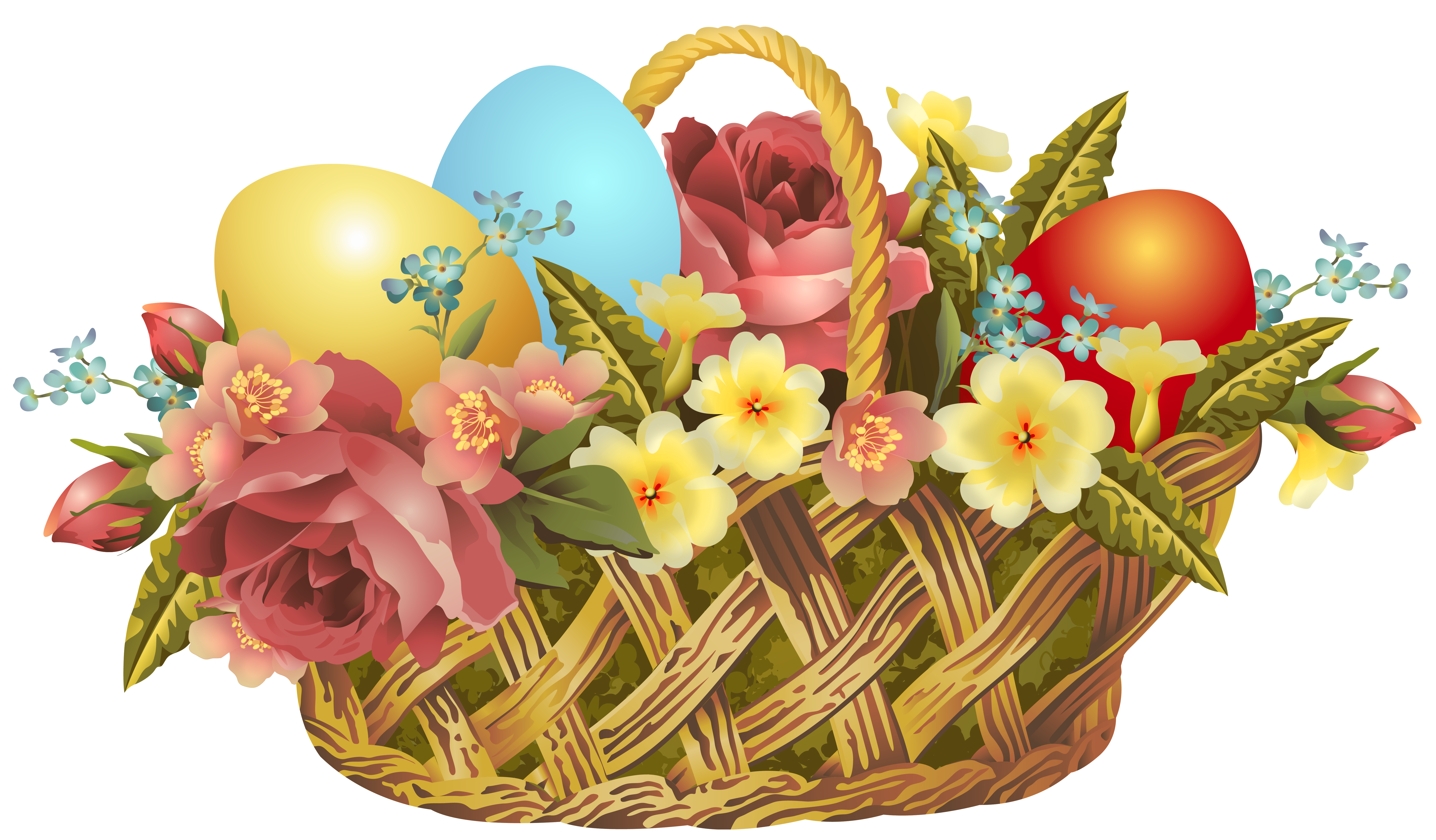 happy easter clipart vintage