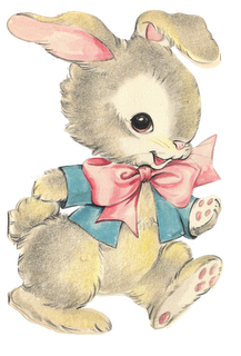 Happy easter clipart vintage. Bunny nanalulu s musings