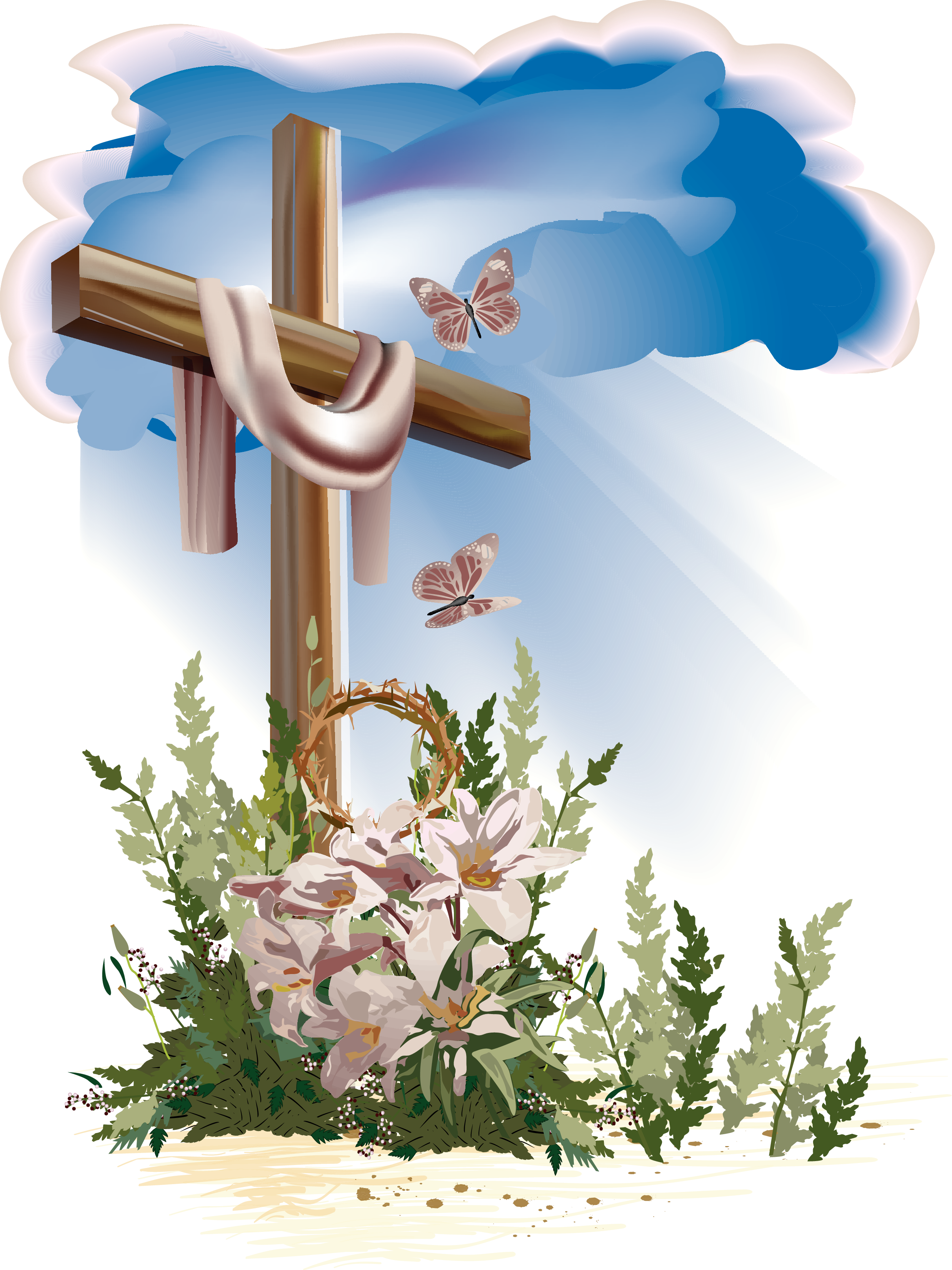Easter cross clipart png. Http bishopumc org hp