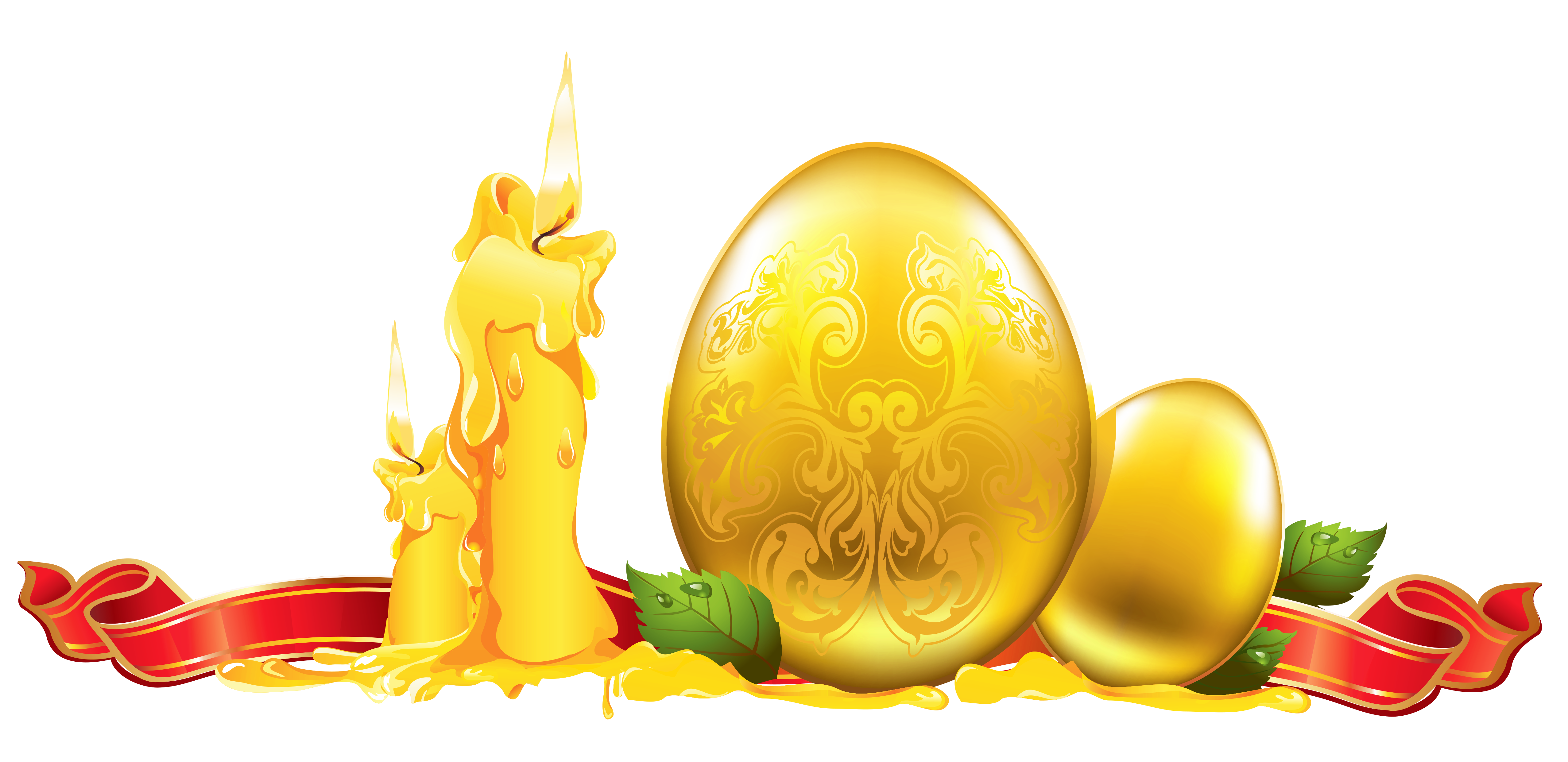 Easter decorations png. Golden decoration clipart gallery