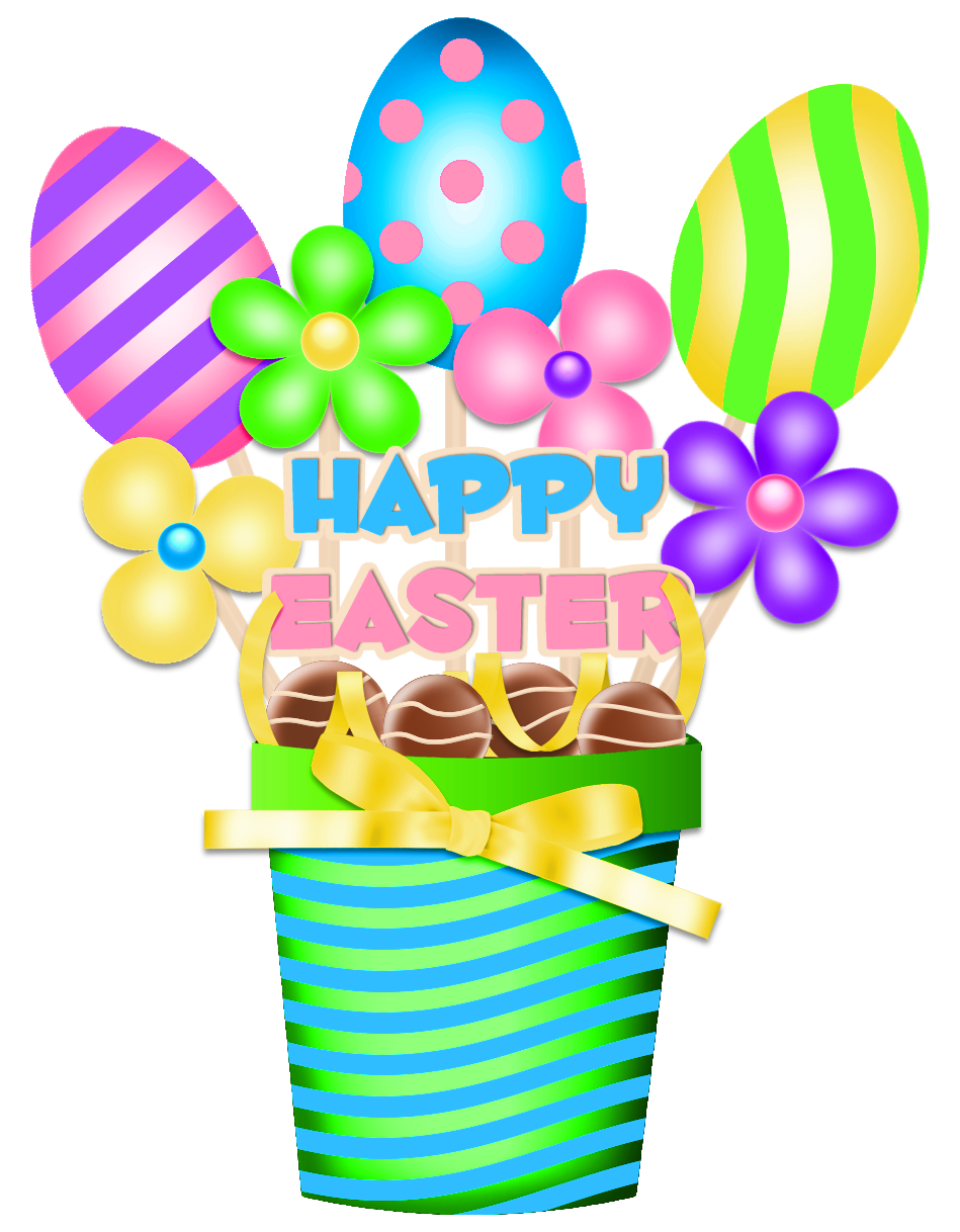 Easter decorations png. Bucket decoration clipart picture