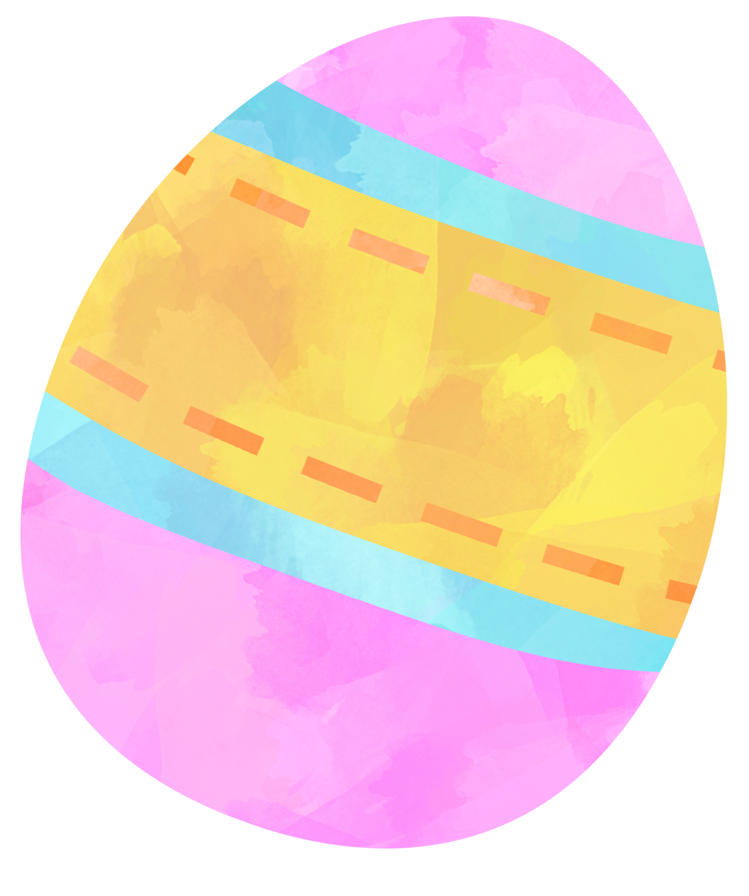 Easter Egg. Watercolor clipart