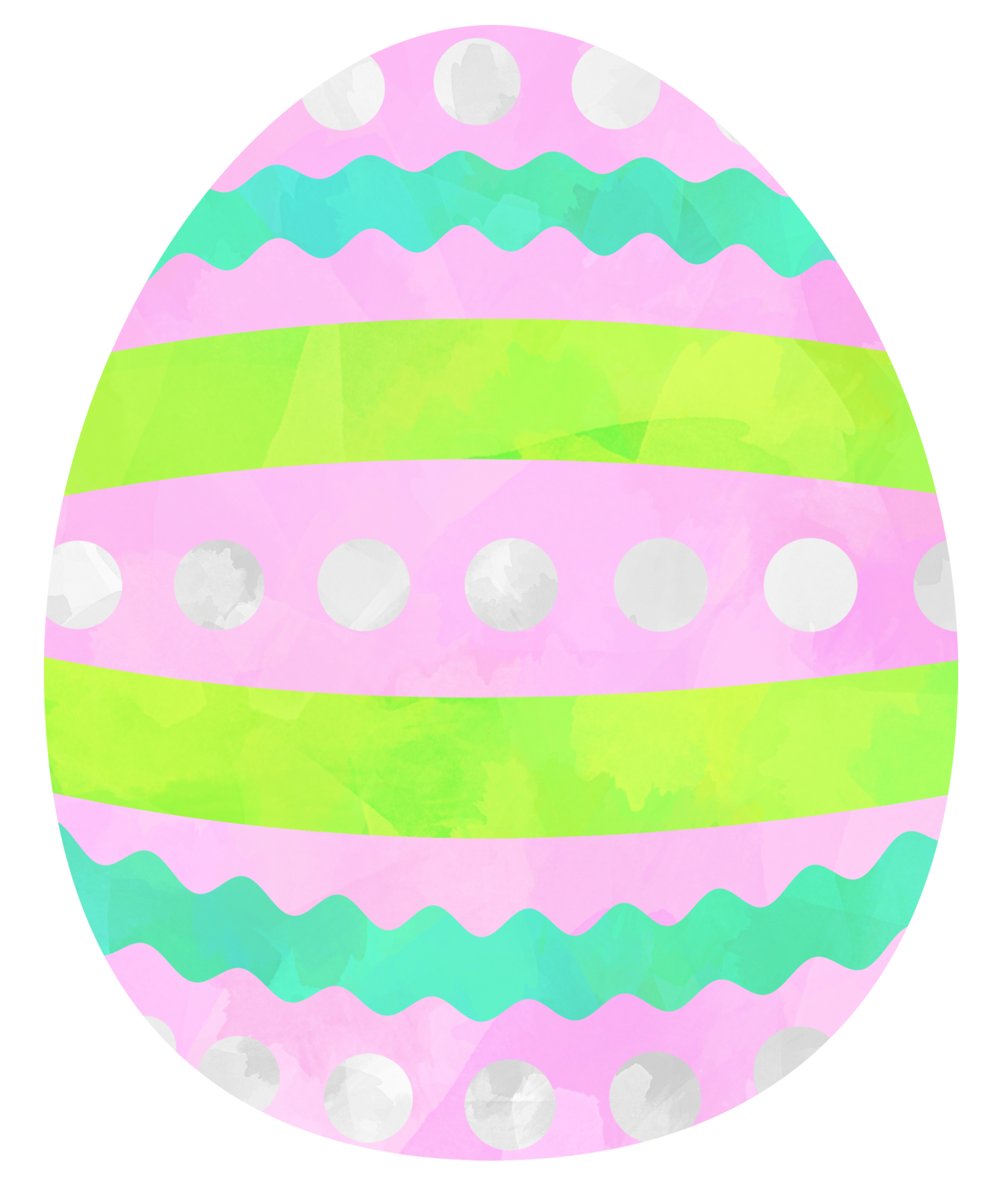 Easter Egg. Colored watercolor clipart