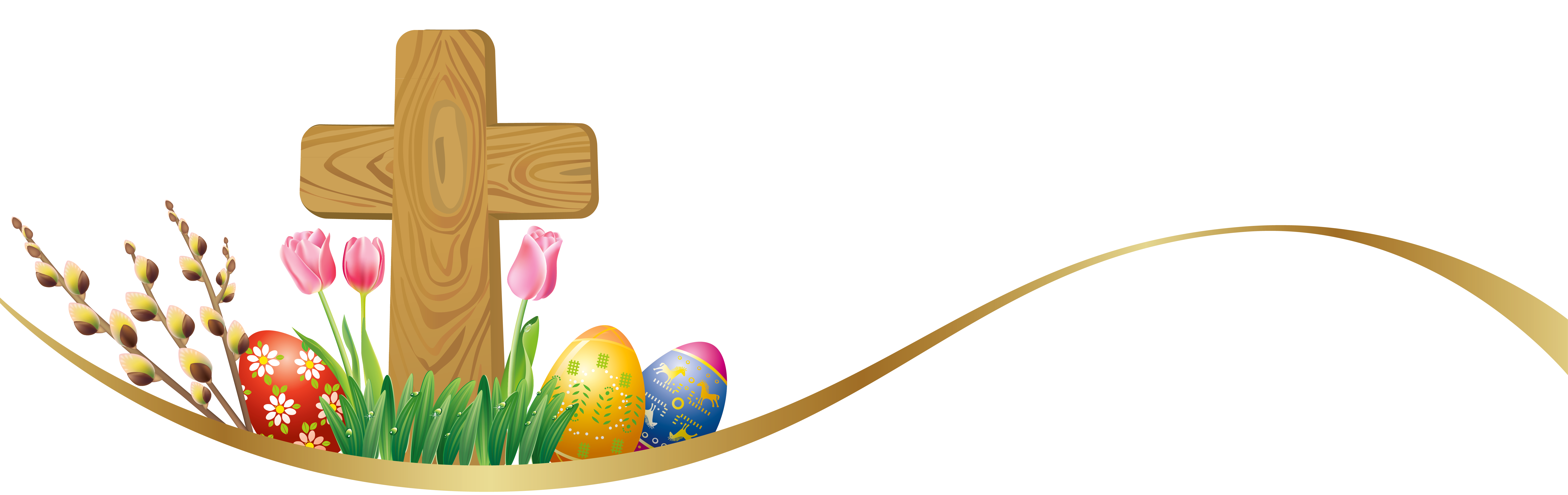 happy easter clipart cross