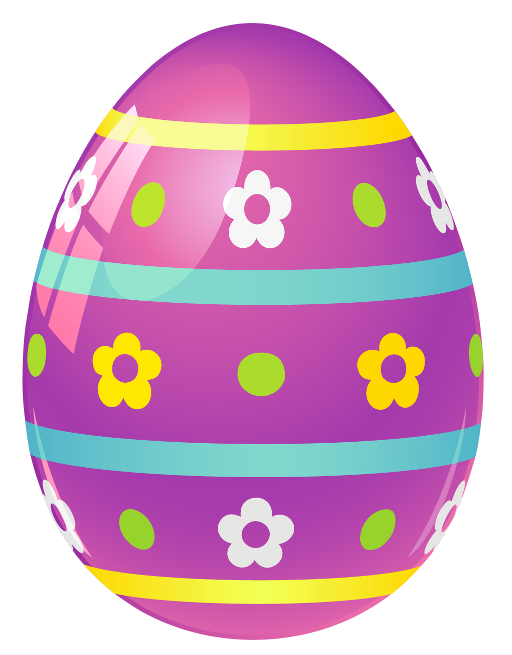 Easter egg clip art png. Purple with flowers picture