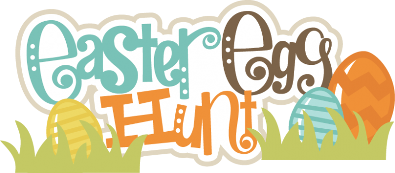 Easter egg hunt png. Svg scrapbook title eggs