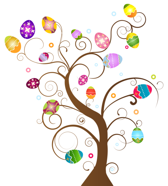 Easter egg tree png. Clip art image gallery