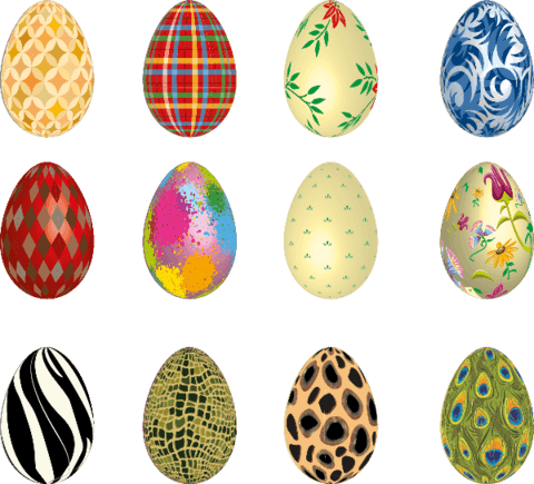 Easter egg vector png. Eggs stickers free printable