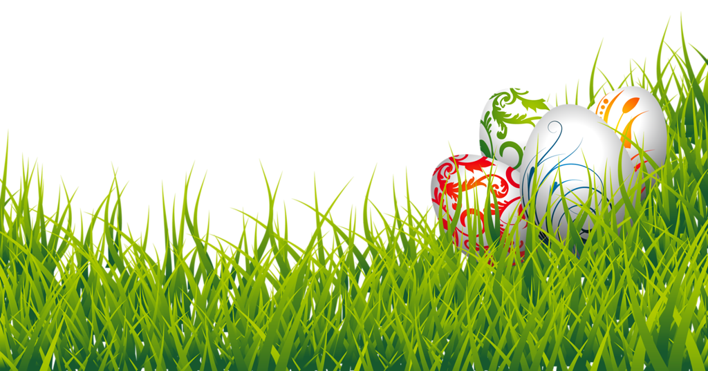 Easter egg border png. Eggs and grass clipart