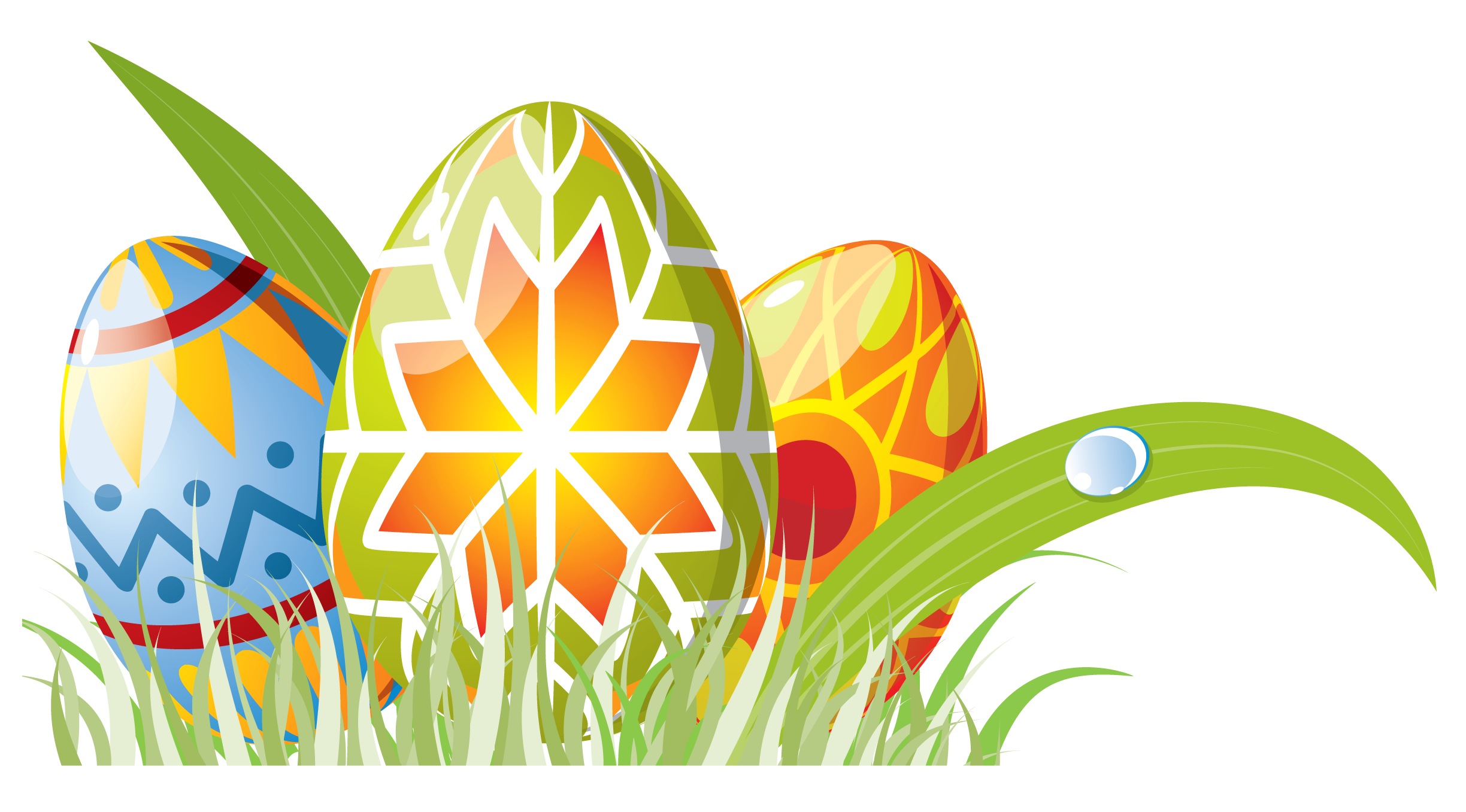 Easter eggs in grass border png. With decoration clipart gallery