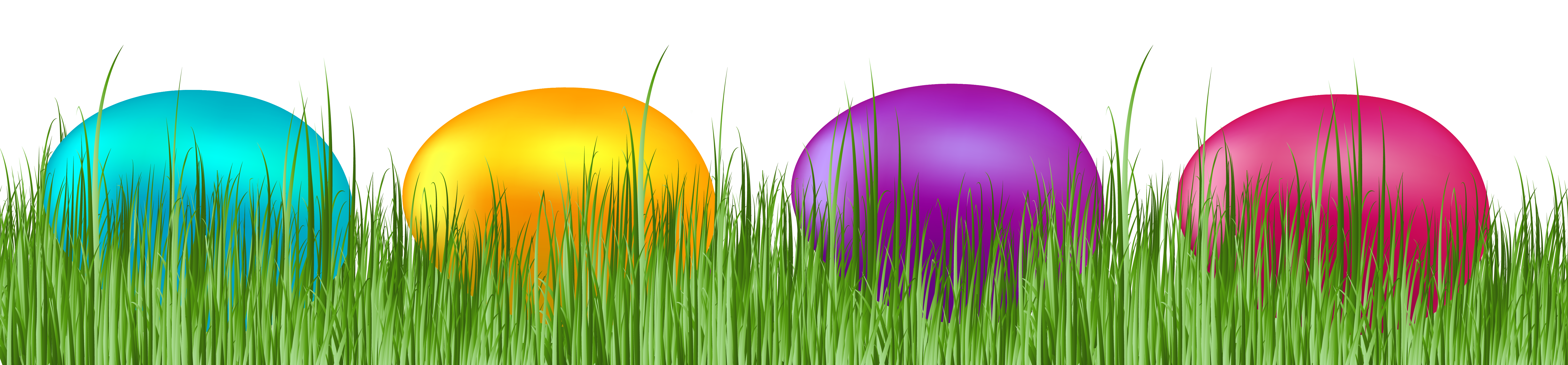 Easter grass png. With eggs transparent clip