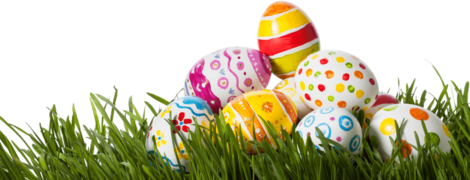 Easter eggs in grass png. Photo arts