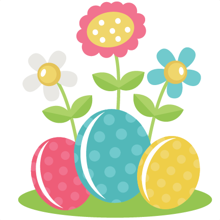Easter flowers png. Eggs with svg files