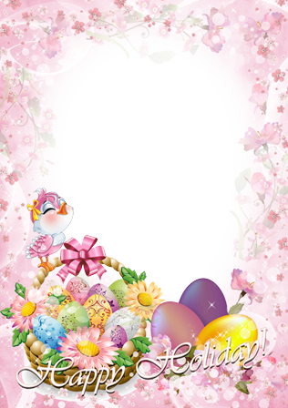 Easter frames png. Photo bird with the
