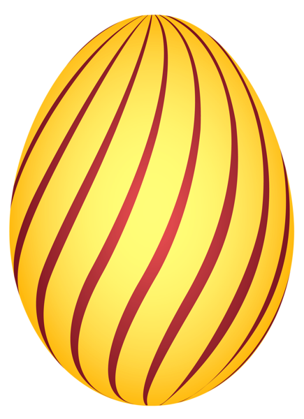 Easter garland png. Yellow striped egg clipairt