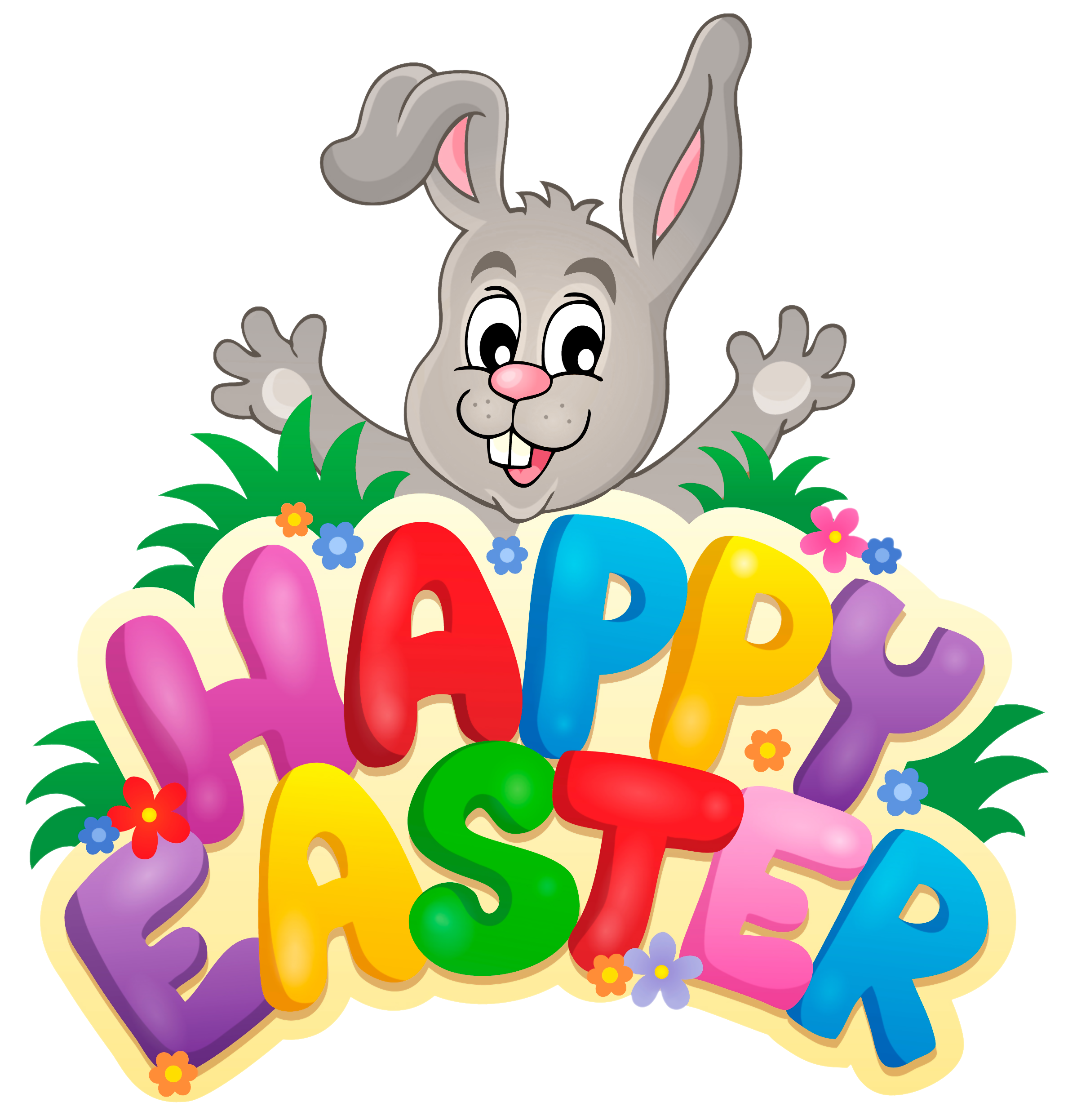 Easter png images. Happy rabbit