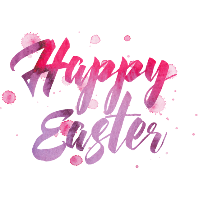 Happy easter png different font. Typography and psd file