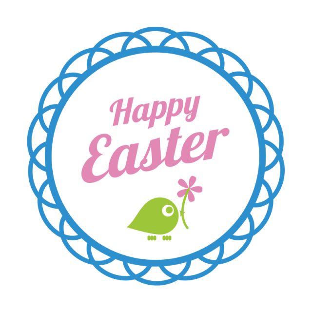 Easter png and psd. Typography vector banner black and white library