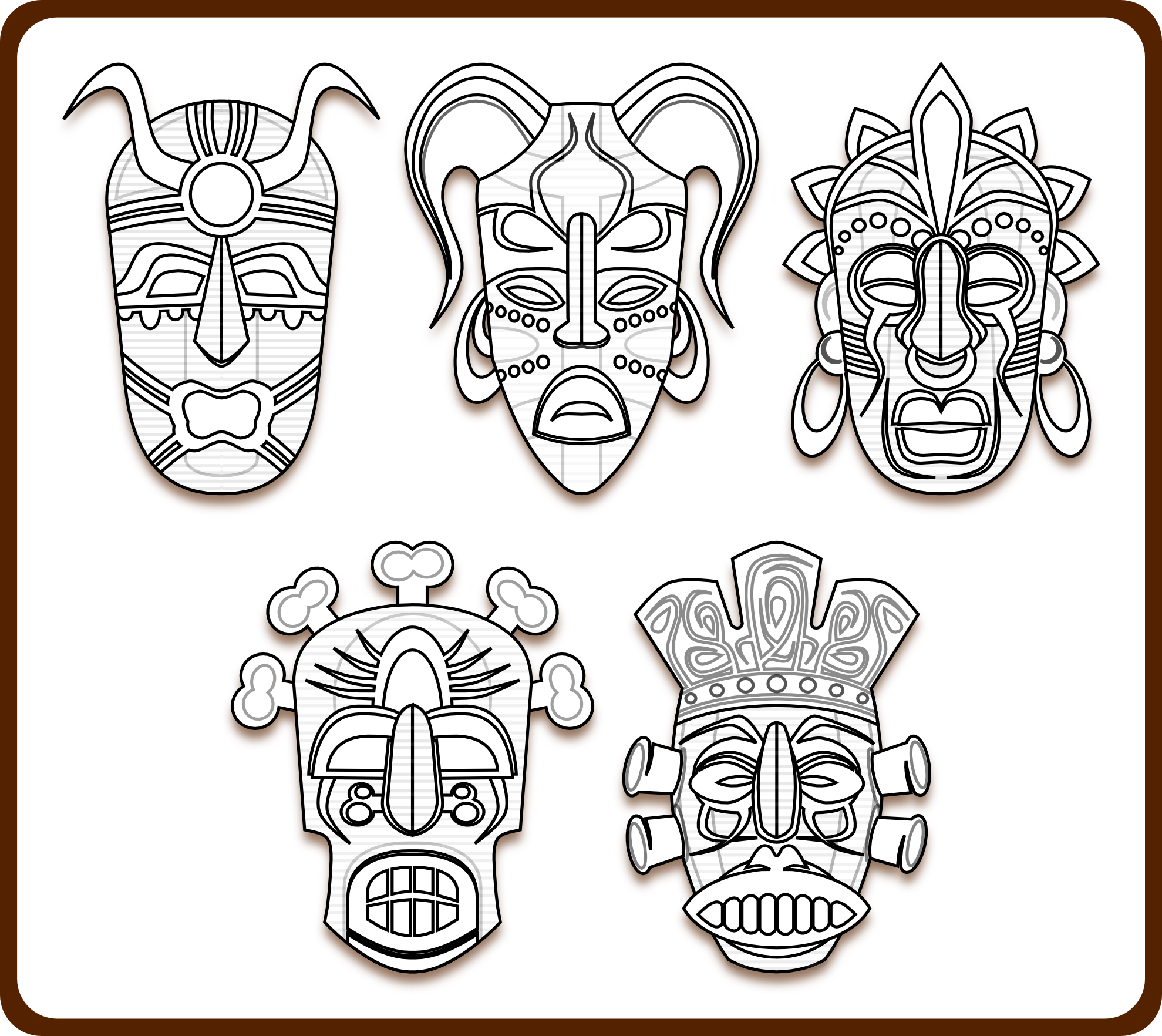 Easy vector african tribal mask. R sultat de recherche