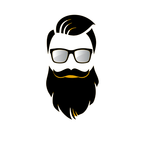 Easy vector bearded man. Beard biker bikers pride