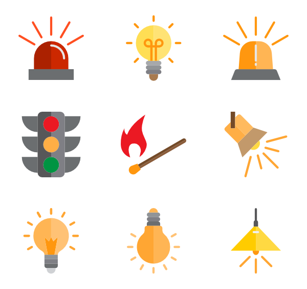 Easy vector electric. Electricity icons free light