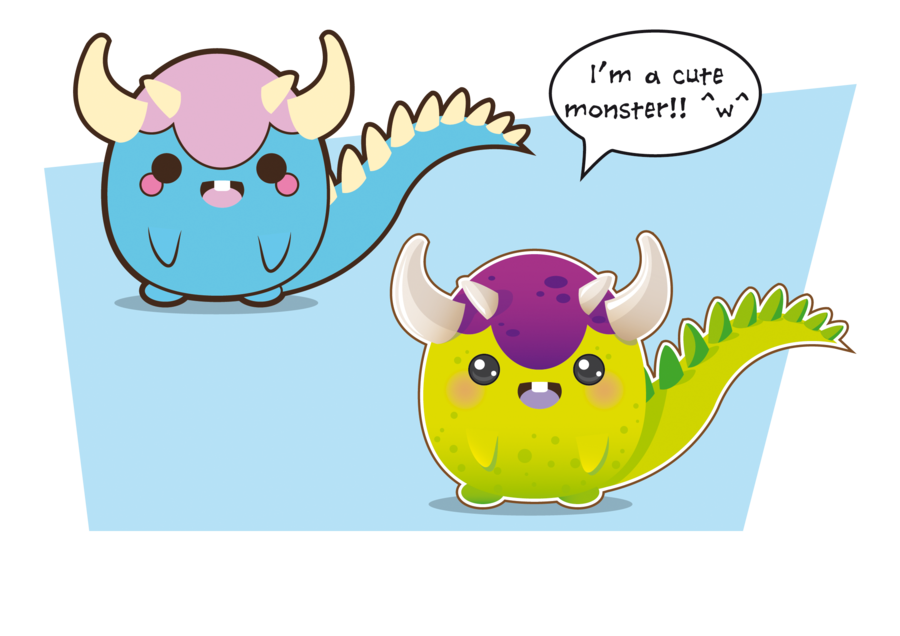 Vector monsters art. Cute monster by jenysa