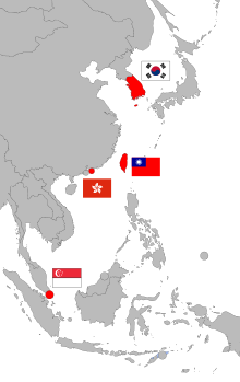 Asia vector south map. Four asian tigers wikipedia